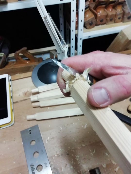 shaping the tenons