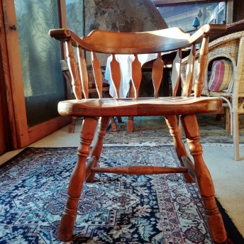 Front view of the chair